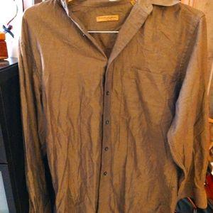 $ALE! Donna Karan Soft Linen Dress Shirt